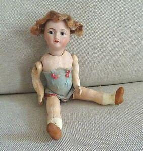 N°84/ Petite poupée ancienne, mignonette de 16 cm, Unis France 301 5/0.