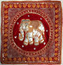 Hand made Kalaga Tapestry Decorative Cushion Cover Red 44cm size from Thailand