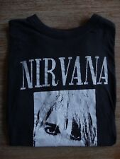 NIRVANA RARE EARLY 90'S BLACK PORTRAIT VTG CONCERT TOUR MENS T-SHITR SIZE: M