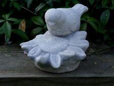 Steinfigur Tierfigur Vogel grau patiniert