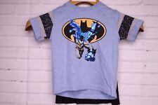 DC Batman Toddler Boys Blue Black Novelty T-Shirt With Cape Short Sleeve Size 2T