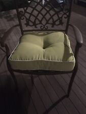 6 Outdoor Seat Cushions lime green