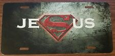 SUPERMAN LOGO CUSTOM LICENSE PLATE CAR MOVIE EMBLEM Jesus Version