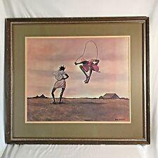 1973 Ernie Barnes Lithograph Print Ninety-Nine; A'hunered African Americana Art