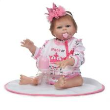 """20"""" Full Silicone Reborn Baby Doll Lifelike Vinyl With Clothes Reborn Girl New"""
