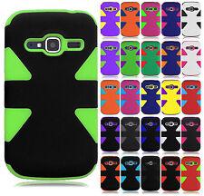 ZTE Concord II 2 Z730 IMPACT TUFF HYBRID Protector Case Cover + Screen Guard