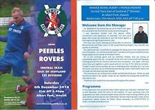 6 DEC 2014 HAWICK ROYAL ALBERT v PEEBLES ROVERS WITH UPDATE FOR 25 MAR 2015