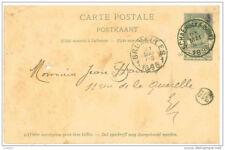 STORIA POSTALE CARTOLINA POSTALE BELGIO VIAGGIATA 21 MAGGIO 1896 DA SCHAERBEE