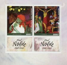Congo 2017 MNH Emil Nolde 2v M/S Jesus Christ Art Paintings Stamps