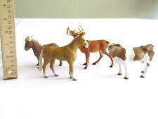 4x Terra By Battat Farm Animal Holstein Cow Falabella Akhal Teke Horse Buck Deer
