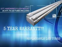 8ft Commercial LED Shop Light Fixture - Garage, Warehouse, Retail Location 5000K