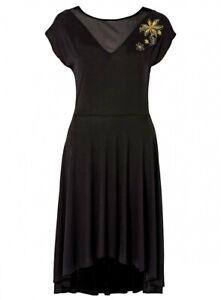 Shirtkleid Gr. 36 Schwarz Damen-Kleid Freizeit- Abendkleid Cocktailkleid Neu