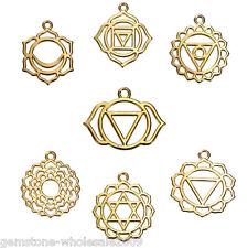 7PCs wholesale Gold Plated Hellow Flowers Shape Pendants Diy Fashion Jewelry