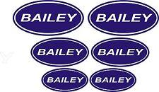 Bailey Vinyl Stickers  Caravan Camping  set x6