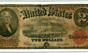 """$2 (LEGAL TENDER)  """"JEFFERSON"""" 1917 $2 (LEGAL TENDER) """"JEFFERSON"""" 1917 RARE ITEM"""