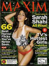 JSA Sarah Shahi Signed October 2012 Maxim Magazine Cert J92569 Fairly Legal
