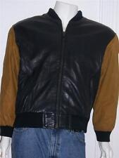 """I.O.U. 1991 LEATHER COLLECTION MOTORCYCLE JACKET LARGE UNDERARM-UNDERARM 27 1/2"""""""