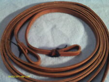 """Reins Made in USA Don Porath Harness Leather 5/8"""" Split"""