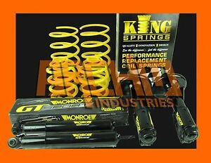 70mm ULTRA LOW KING SPRINGS & MONROE GT SPORT SHOCKS FOR FORD FAIRLANE NF 6 CYL