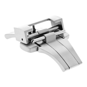 DEPLOYMENT CLASP 22/24MM BAND LEATHER STRAP BUCKLE FOR PANERAI 44MM STEEL POLISH