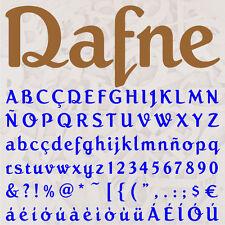 ALFABETO DAFNE LETRAS A ELEGIR 12cm MADERA DM 4mm MDF WOODEN LETTERS DECOUPAGE