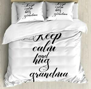 Grandma Duvet Cover Set Twin Queen King Sizes with Pillow Shams Bedding