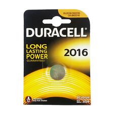★10 BATTERIE A BOTTONE DURACELL CR2016 LITIO 3 V PILE CR 2016★