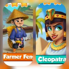 Coin Master cards Pack☆☆☆Farmer Feng & Cleopatra ☆☆☆ Fastest Delivery