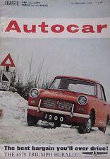 Autocar magazine 22/2/1963 featuring Mini Super de Luxe road test