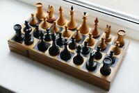 50s-60s Vintage Soviet Chess USSR - Woden Chess - Full Set!
