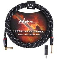 ADM 10 FT 3M Noiseless Musical Instrument Electric Guitar & Bass Cable /Amp Cord