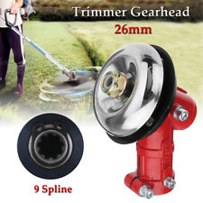 Gearhead Aluminum For 26mm 9 Spline Trimmer Strimmer Brush Cutter Lawnmower