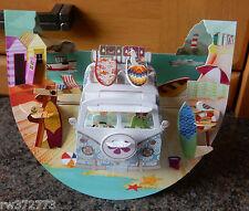"3D Popnrock Card by Santoro  - ""Camping Van, Beach"""