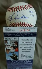 Lou Piniella Signed inscription 1990 WSC OMLB in person. JSA CERTIFIED