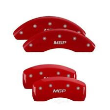 MGP 4 Caliper Cover Red Finish Engraved Front & Rear For 2018 Toyota Camry