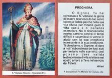 Santino Holy Card: S. San Vitaliano Vescovo - Sparanise