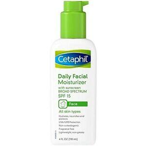 Cetaphil Daily Facial Moisturizer, SPF 15, Fragrance Free - 4 fl oz