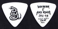 Metallica Robert Trujillo White Coiled Snake Bass Guitar Pick - 2012 Tour