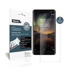 2x Nokia 6.1 2018 Protector de Pantalla Vidrio Flexible Mate Proteccion 9H dipos