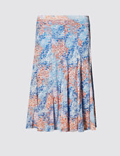 M&s Per Una Floral A Line Pull on Skirt Plus Size 24 BNWT