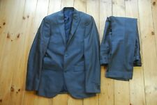 Men's Next Slim Fit Grey Two Piece Suit  34R 30S - Wedding Teenager Youth 16 15