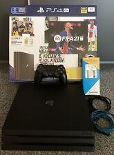 Sony PlayStation 4 Pro (Aktuellstes Modell)- 1TB Jet Schwarz Spielekonsole