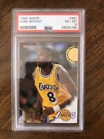 1996 Hoops Basketball Kobe Bryant ROOKIE RC #281 PSA 6  EX -MINT!!!