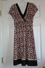 Studio 1 size 8 petite ladies stretch pullover casual dress brown melon summer
