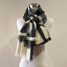 Black Grey Cream Multi Colour print  Wool Pashmina Warm Soft Long Scarf