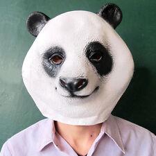 Creepy Panda Bear Head Face Animal Costume Halloween Party Props Carnival Mask