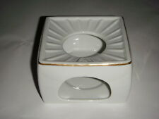 Georges Briard Porcelain Square Raised Hot Plate Pot Stand Gold Trim 3 X 5 X 5