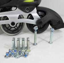 Inliner Ersatzteile | 6 mm ACHSEN-SET für 8 Skater Rollen Bremse | Silber 20tlg.