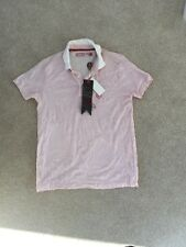Men's Or boys fly53 red and white striped wrinkle effect polo shirt  Size S BNWT