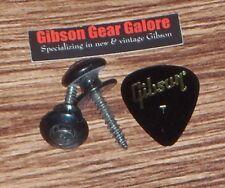 Gibson Les Paul Buttons Strap HP Relic Black Lrg Guitar Parts Locks SG R9 Custom
